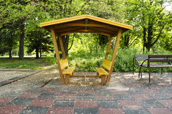 Yellow Gazebo Stock Photo