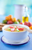 Yellow gazpacho Royalty Free Stock Photo