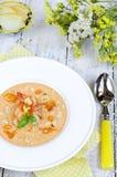 Yellow gazpacho soup Stock Photos