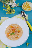 Yellow gazpacho soup Royalty Free Stock Images