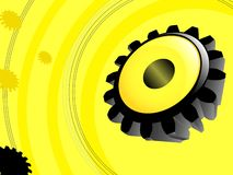 Yellow gear illustration Royalty Free Stock Photography