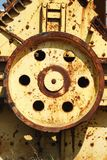 Yellow gears Stock Photos