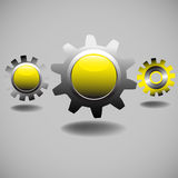 Yellow gears Royalty Free Stock Image