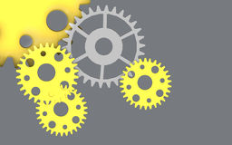 Yellow Gears Creativity Art Background Royalty Free Stock Photography