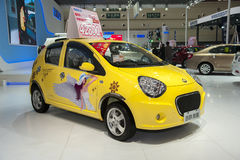 Yellow geely panda car Stock Photography