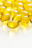 Yellow Gel Capsule Pill Royalty Free Stock Photography