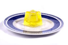 Yellow gelatin Royalty Free Stock Photography