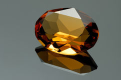 Yellow gem Royalty Free Stock Photos