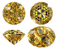 Yellow gem isolated Royalty Free Stock Images