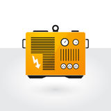 Yellow generator. On gray background Stock Images