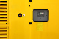 Yellow generator Stock Image