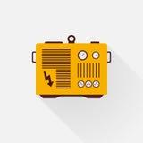 Yellow generator. With long shadows Royalty Free Stock Photos