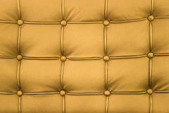 Yellow genuine leather Stock Photos