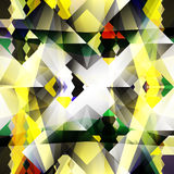 Yellow geometric abstract pattern small objects Royalty Free Stock Photography