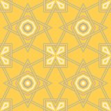 Yellow geometric background. Bright seamless pattern. For wallpapers, textile and fabrics Royalty Free Stock Photography