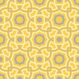 Yellow geometric background. Bright seamless pattern. For wallpapers, textile and fabrics Stock Photo
