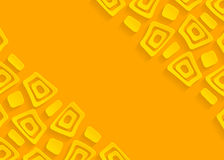 Yellow geometric paper abstract background Royalty Free Stock Image