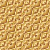Yellow Geometric Seamless Pattern Royalty Free Stock Photos