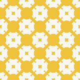 Vector yellow geometric seamless pattern with grid, lattice, squares and circles. Yellow geometric seamless pattern with grid, lattice, squares and circles stock illustration