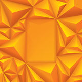Yellow geometrical background. Geometric background for card design, page design, leaflet, brochure, flyer or magazine page design Stock Photo