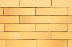 Yellow German Ceramic Clinker Brick Textured Wall Background Royalty Free Stock Photo