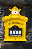 Yellow German Mailbox. Old Yellow East Germany mailbox photo taken in dresden,germany stock photos
