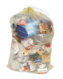 Yellow German recycling bag Royalty Free Stock Photos