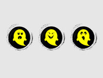 Yellow ghost character Royalty Free Stock Photos