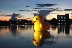 Yellow Giant Duck at Udon-Thani. Yellow Giant Duck at Udon-Thani in Thailand Royalty Free Stock Image