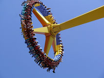 Yellow Giant Frisbee Ride Royalty Free Stock Photography