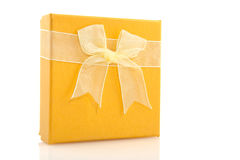 Yellow gift Stock Photo