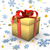Yellow Gift Royalty Free Stock Images