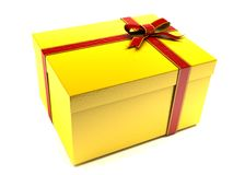 Yellow gift stock image