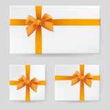 Yellow gift bow Stock Images