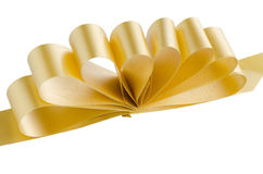 Yellow gift bow Royalty Free Stock Photography