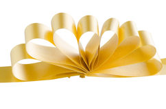 Yellow gift bow Royalty Free Stock Images
