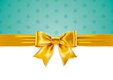 Yellow Gift Bow Stock Photos