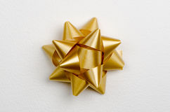 Yellow gift bow Royalty Free Stock Photo
