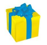Yellow Gift Box Royalty Free Stock Photos
