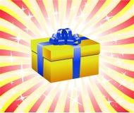 Yellow Gift Box Royalty Free Stock Photography