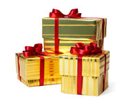 Yellow Gift Box Stock Photo