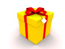 Yellow Gift Box royalty free stock image