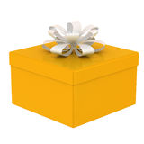 Yellow gift box. Royalty Free Stock Photography
