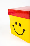Yellow gift box Royalty Free Stock Images