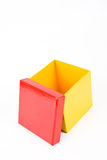 Yellow gift box opened Royalty Free Stock Image