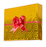 Yellow gift box Royalty Free Stock Photo
