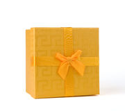 Yellow gift box Royalty Free Stock Photos