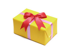 Yellow gift boxs Royalty Free Stock Photography