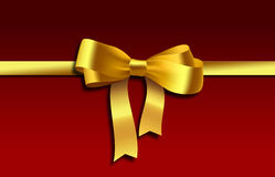 Yellow gift, ribbon, bow Royalty Free Stock Photography