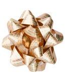Yellow gift wrap bow Stock Image